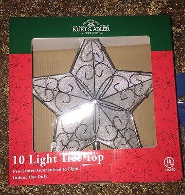 CLEARANCE Kurt Adler 10 Christmas Holiday Indoor UL Star Tree Topper
