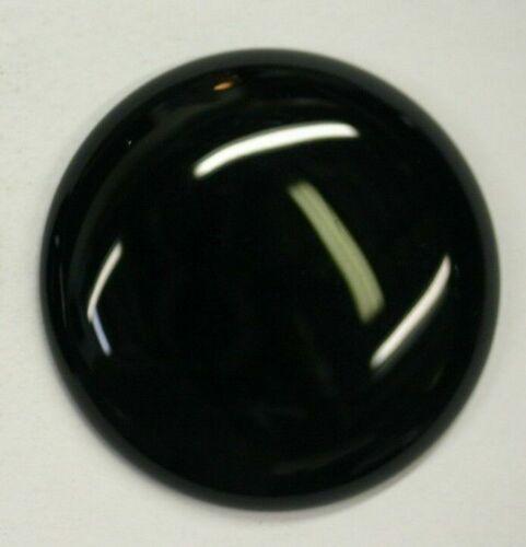 38mm Natural Black Onyx Calibrated Round Cabochon Gemstones Gems Jewelry