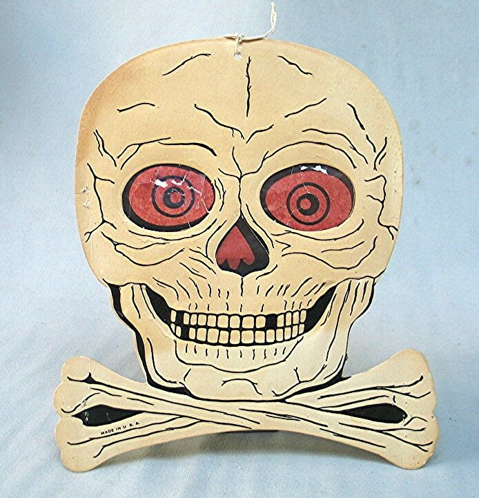Vintage Halloween Skull Decoration