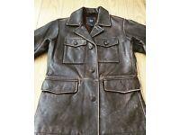 Brand New GAP - Men's 70's Retro Style Leather Jacket