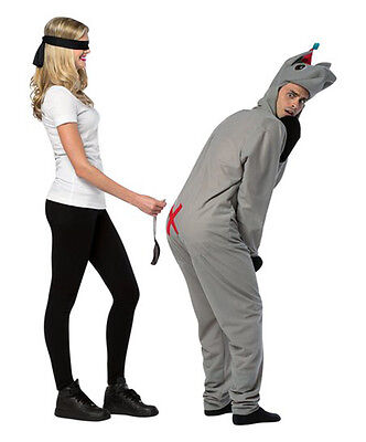 PIN THE TAIL ON THE DONKEY UNISEX HALLOWEEN COSTUME ADULT ONE SIZE FITS MOST