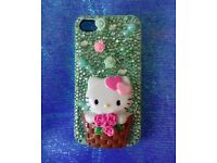 Hello Kitty Custom Made iPhone 4/4S Case
