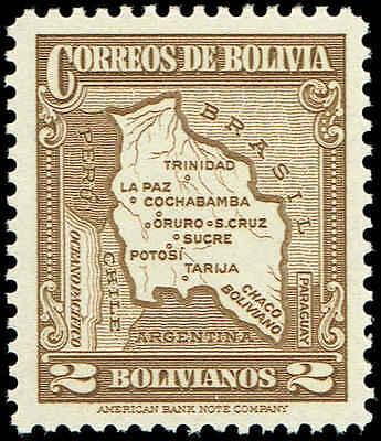 Scott # 232 - 1935 - ' Map of Bolivia '