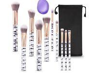 10pcs Marble Professional Make-up Brushes