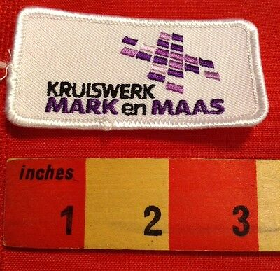 FOREIGN LANGUAGE PATCH (FOR ENGLISH SPEAKERS).  KRUISWERK MARK EN MAAS. PURPLE