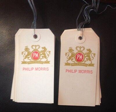 Vintage Philip Morris Tobacco Tags Warehouse Sales 10 Original Tags Metal Ties