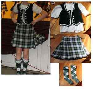 Highland Dance - Child's Kilt, Vest, Blouse, and Socks for Sale