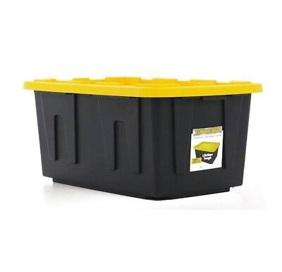 27 Gallon Tough Storage Container Bin With Lid  2 Pack  New Ship From Store