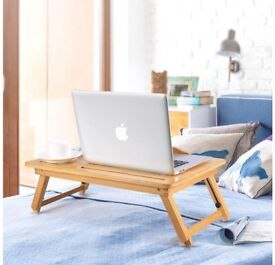 Bamboo adjustable bed table