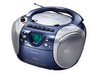 Portable PhilIps Boombox - Radio / Cass Rec /CD