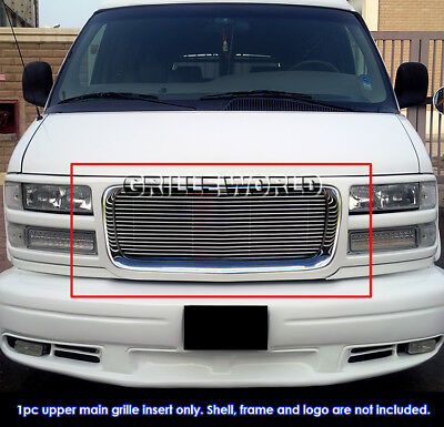 Fits 1996-2002 GMC Savana Van Billet Main Upper Grille Insert