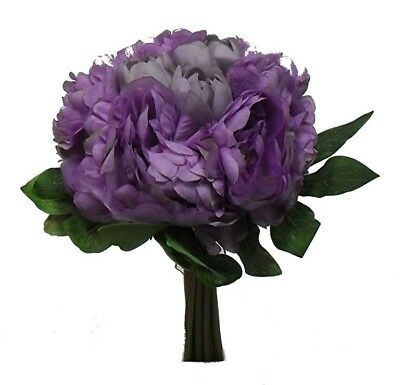 LAVENDER PEONY Bridal Bouquet Peonies Wedding Centerpiece Artificial Silk Flower - Lavender Centerpieces