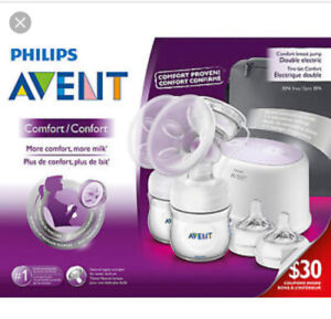 New in box Avent double breast pump
