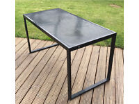 Outdoor metal dining table