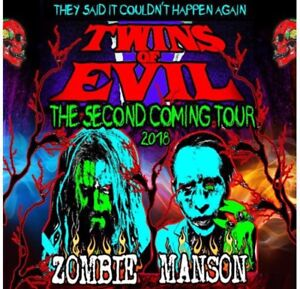 Rob Zombie Marilyn Manson show July 26 7pm