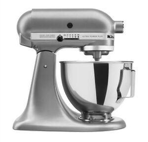 New KitchenAid  Ultra Power Tilt-Head Stand Mixer KSM96CU Silver