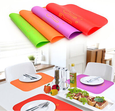 Korea Silicone Dining Table Place Mat Pad Kitchen Cooking Tool Non Slip 1 Sheet