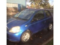 2003 TOYOTA YARIS 1.0 CC MOTD TO AUGUST ALLOY WHEELS DRIVES WELL
