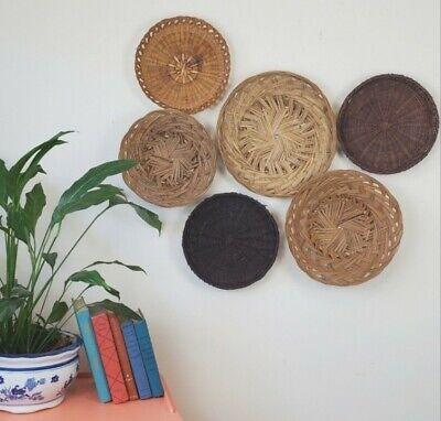 Wicker Plate Basket Wall Decor Collage Boho Bohemian