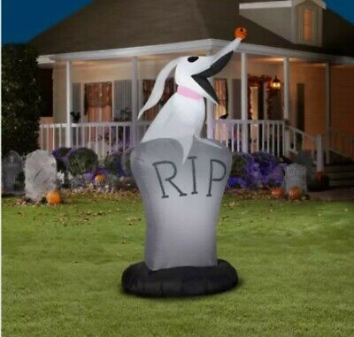 Nightmare Before Christmas 5 Ft ZERO RIP Grave Airblown LED Inflatable Gemmy NIB