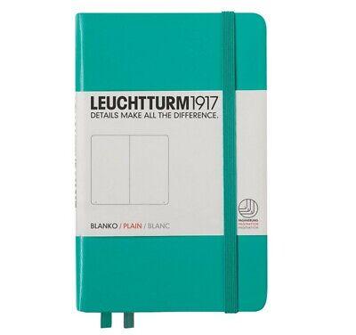 Leuchtturm1917 A6 Pocket Plain Notebook- Emerald