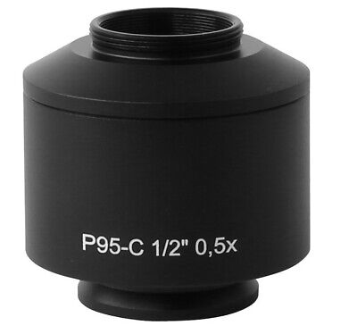 0.5x Standard Microscope Camera C Mount Adapter For Zeiss Trinocular Microscope