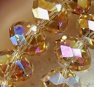 1000pcs champagne AB Swarovski Crystal Loose Beads 3X4mm