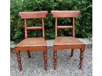 Stunning Pair of Vintage Dining Kitchen Chairs - Delivery Available