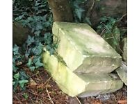 two stone blocks
