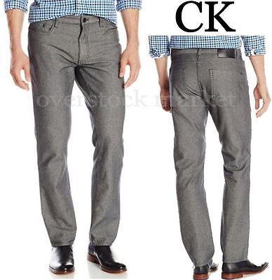 对于出售 NEW Mens Calvin Klein Jeans Herringbone 5 Pocket Slim Fit Straight Pant Variety!