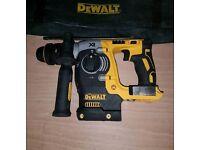Pre owned Dewalt DCH274 18V XR Brushless SDS+ Drill BARE UNIT - NO BATTERIES OR CHARGER