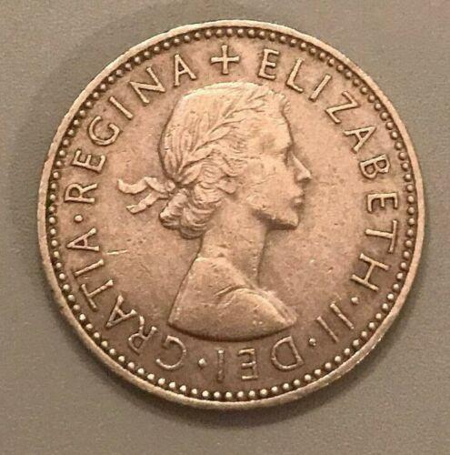 1958 Great Britain 1 Shilling - RARE COIN - Elizabeth II