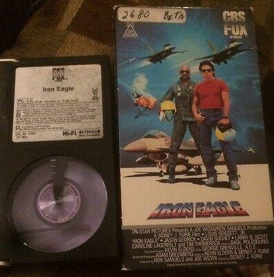 Betamax Beta  Iron Eagle 1986 Video Movie Film  Louis Gossett Jr. Tape
