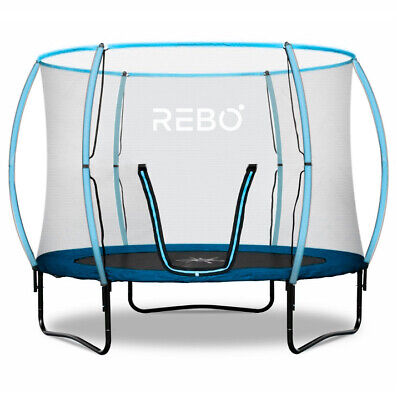 Rebo Jump Zone 10FT Trampoline With Halo Safety Enclosure