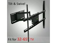 PLASMA LCD LED 3D TV WALL MOUNT BRACKETS TILT SWIVEL 22 32 40 42 46 50 55 60 65
