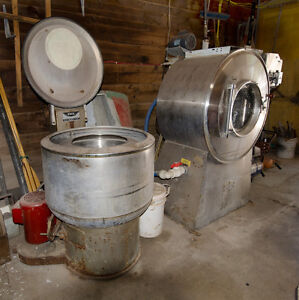 Industrial Washer and Extractor + Industrial Sewing Machine
