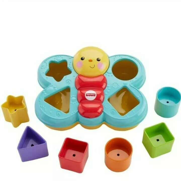 Fisher Price Baby Butterfly Sorter With Shaped Blocks For Problem Solving