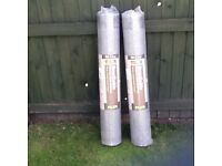 2 Rolls of Breathable Roofing Felt 50m by 1m Each
