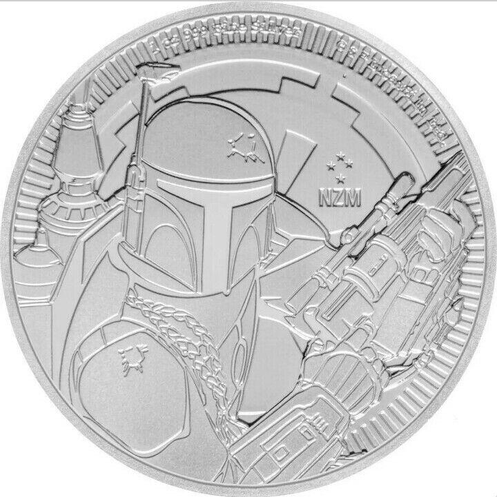 2020 Silver Star Wars Boba Fett. 1 oz. Fine $2 Coin.