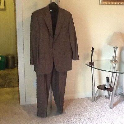 Men's Tom James/Mike Barton Three Button Wool Suit  Blazer42/ Pants W36/L30