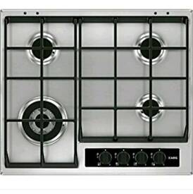 The 4 burner AEG HG654550SY gas hob stainless steel new