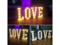 Light up LOVE letter Hire (Wedding/Party)
