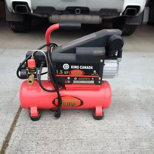 King Canada Air Compressor 1.5 HP, Hose and fittings included