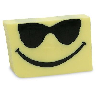 Primal Elements, SMILING FACE With SUNGLASSES, 7 oz. Glycerin Soap Full Size New