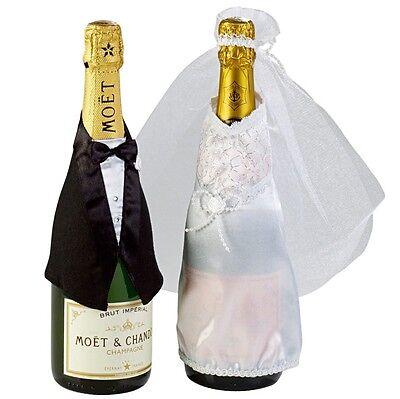 Brautpaar Anzug Brautkleid Flaschen Hochzeit Deko Tischdeko Party Dekoration  (Hochzeitstisch Dekoration)