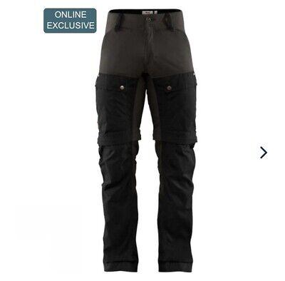 "Fjallraven Keb Hiking Trousers. Black. Size 46 fit Regular Waist. 30-31"""