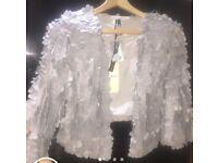 BNWT leather Topshop jacket. U.K. 12. £55