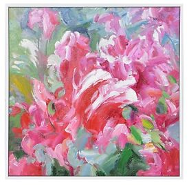 Beautiful Flowers Painting - Pink Flowers Large Wall Art New Ready to Hang 840x840mm