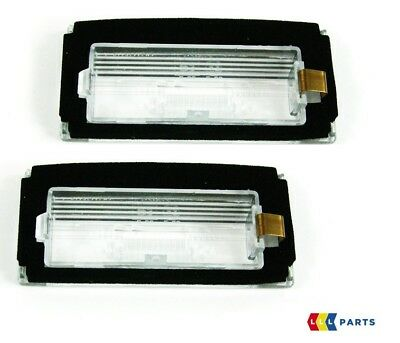 NEW GENUINE MINI R50 R52 R53 REAR LICENSE PLATE LAMP LIGHT LENS COVER PAIR SET