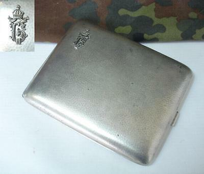 Wwii Original German Ally Officer S Silver Cigarette Case W Royal Monogram
